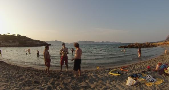 Petit entrainement entre amis sur la plage n°1