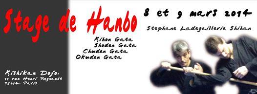 Stage de Hanbo avec Stéphane le 8 et 9 Mars 2014 .Venez nombreux.40€ la journée 70 € les 2 jours.Repas midi compris